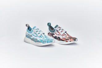 "NEW 2017 UA Sneakersnstuff x Adidas Originals NMD R1 PK ""Datamosh"""